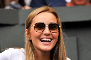 Image: 0197132205, License: Rights managed, Restrictions: RESTRICTED TO EDITORIAL USE, Serbia's Novak Djokovic's girlfriend Jelena Ristic attends his men's singles first round match against Kazakhstan's Andrey Golubev on day one of the 2014 Wimbledon Championships at The All England Tennis Club in Wimbledon, southwest London, on June 23, 2014., Place: UNITED KINGDOM, Model Release: No or not aplicable, Credit line: Profimedia.com, AFP