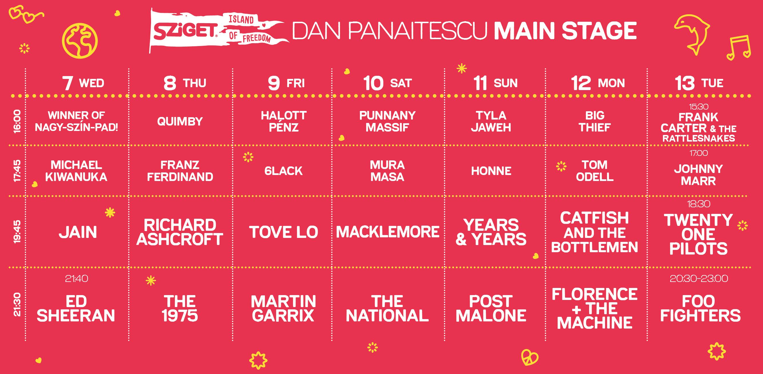 Znamo ko sve nastupa na glavnoj bini Sziget Festivala!